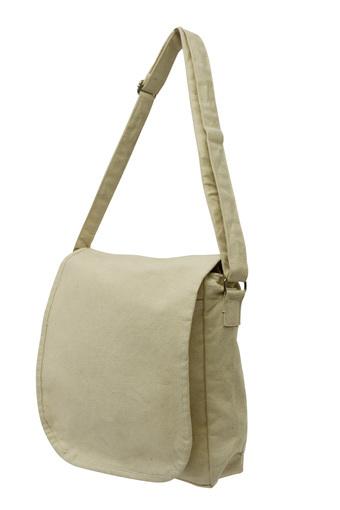 Flap bag organic cotton