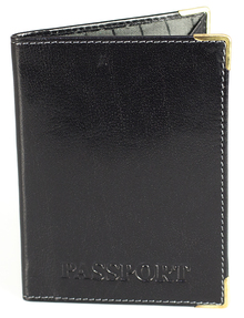 Passport cover with print