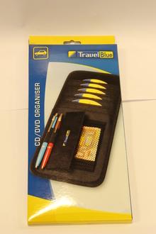 CD/DVD Organiser Travel Blue